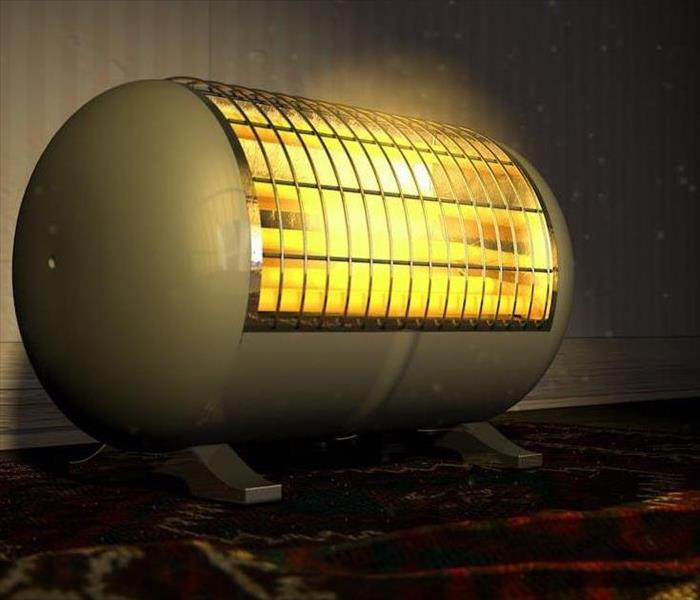 Fire Damage Leaving a Space Heater Unattended inside Your Wrightsville Beach Home Can Cause Fire Damage
